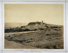 The Acropolis, Temple of Theseus in the foreground./ Athens Sept. 28th 1872