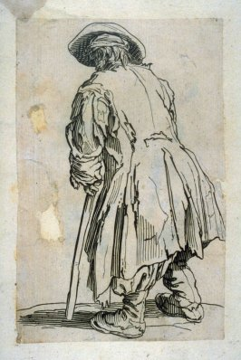 Old Beggar with only crutch, from Les Gueux (reversed copy) (one of six from a series of 25)
