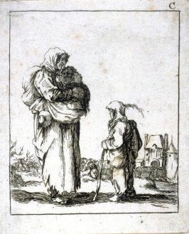 (Peasant woman and child)
