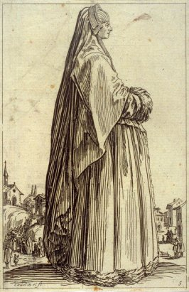 Lady with cape and muff (copy)