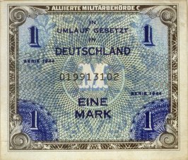 Allied Military Authority One Mark Note , Series 1944