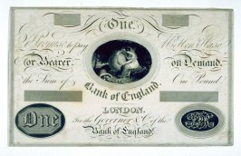 Bank of England One Pound Note, (undated)