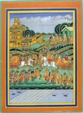 Battle Scene from a Ramayana
