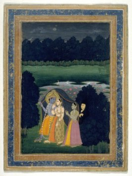 Radha and Krishna Walk to a Tryst
