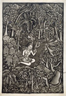 Untitled (woman with birds)