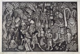 Untitled (procession in a forest village)