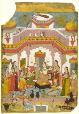 Vilaval Ragini from a Ragamala series