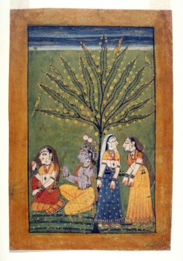 Krishna Being Rebuked by a Lady