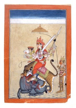 Durga Killing a Buffalo Demon
