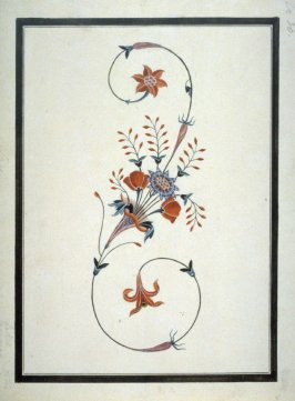 Study of the floral pietra dura in the Tomb of Arjumand Banu in the Taj Mahal at Agra