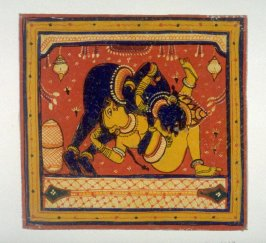 Krishna embracing a woman, from an unidentified series