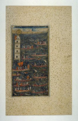 Marine Battle Scene, possibly from a manuscript of the Shah Jehan-nama
