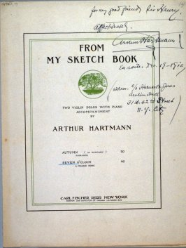 From My Sketch Book composed by Arthur Hartman