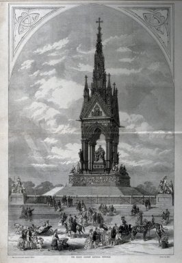 The Prince Consort National Memorial-pages 44 & 45 from The Illustrated London News (13 July 1872)