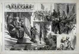 The Columbia Boys - Grand Reception in New York - from Harper's Weekly (August 8, 1874), p. 653