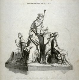 "The National Memorial to the Prince Consort: ""Europe"" - p.17 The Illustrated London News, 6 July 1872"