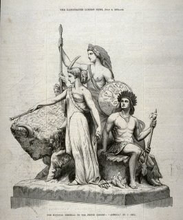 "The National Memorial to the Prince Consort: ""America"" - p.24 The Illustrated London News, 6 July 1872"