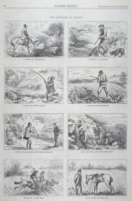 The Miseries of Sport - from Harper's Weekly, (January 24, 1874), p. 96