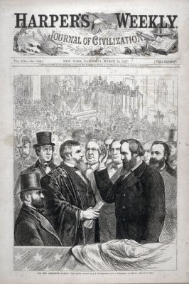 Our New President - Taking the Oath - from Harper's Weekly (March 24. 1877), cover page