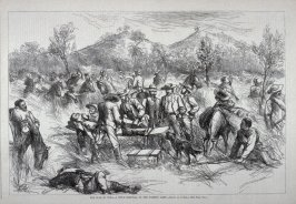 The War in Cuba - A Field Hospital of the Patriot Army - from Harper's Weekly, (February 10. 1877), p. 113