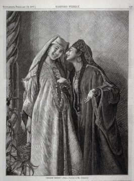 """Moorish Gossips""-.from Harper's Weekly, (February 10. 1877), p. 117"