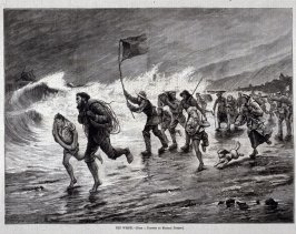 The Wreck - .from Harper's Weekly, page 173, 3 Mar. 1877
