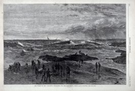 """The Wreck of the """"Atlantic, Searching for the Dead"""" from Harper's Weekly, (April 26, 1873), p. 344"""