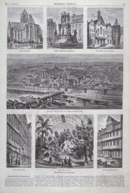 """Frankfort on the Main"" - from Harper's Weekly,  (May 9, 1874), p. 401"