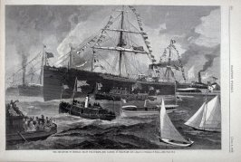 """The departure of General Grant for Europe - the Parting in Delaware Bay"" from Harper's Weekly,  (June 2, 1877), p. 424"