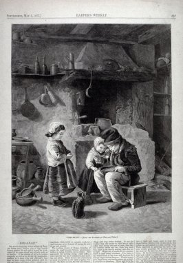 """Breakfast""-from Harper's Weekly,  (May 5, 1877), p. 357"