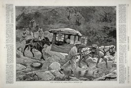 China - Traveling in a Mule Litter- A Mountain Pass-from Harper's weekly, (May 10, 1873), p. 404