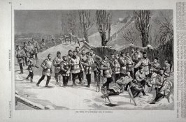 The Terra Nova Snowshoe Club of Montreal, from Harper's Weekly, (January 13. 1877), p. 25