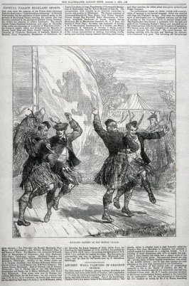 Highland Dancing at the Crystal Palace, from The Illustrated London News (3 Aug. 1872)
