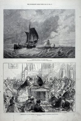 Homeward Bound by Walter May; Presentation of the Freedom of the City to Baroness Burdett-Coutts, from The Illustrated London News (27 July 1872)