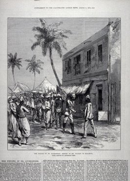 The Finding of Dr. Livingstone, from the Illustrated London News (3 Aug 1872)