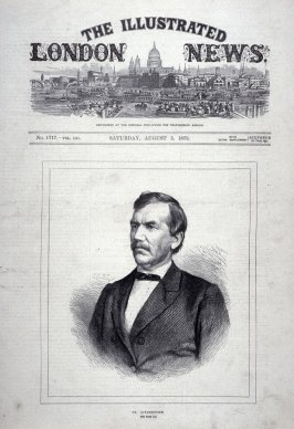 Dr. Livingstone, from The Illustrated London News (3 Aug 1872, p. 1)