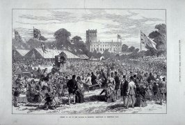 Coming of age of the Marquis of Stafford etc, page 117 from The Illustrated London News (3 August 1872)