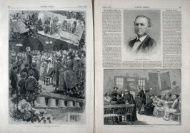 """Preparing for Easter"" and ""The Salvation Army"" and Rev. Robert L. Dashiell"" from Harper's Weekly,  (April 3, 1880), pp. 211 to 218 and pp. 221 & 222"