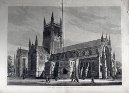 English Church Architecture - Worcester Cathedral - from Harper's Weekly, (April 17, 1880), pp. 248-9