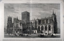 The Minster at York, England - from Harper's Weekly Supplement,  (April 7. 1877), pp. 277 to 280
