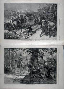 Among the Cow Boys - Breaking Camp and The Capture of Andre - from Harper's Weekly,  (October 2. 1880),  pp. 629 & 630 and pp. 635 & 636
