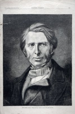 John Ruskin, from Harper's Weekly (July 26, 1879)