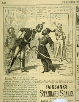 Political Cartoon - from Harper's Weekly,  (April 28, 1877), p. 336