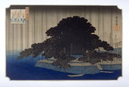copy after Night Rain on the Karasaki Pine (Karasaki no yau), from the series Eight Views of Omi Province (Omi hakkei)