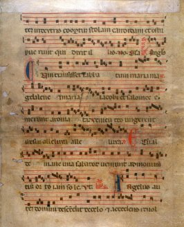 Parchment - Page from a Choral-Epoque of the Renaissance