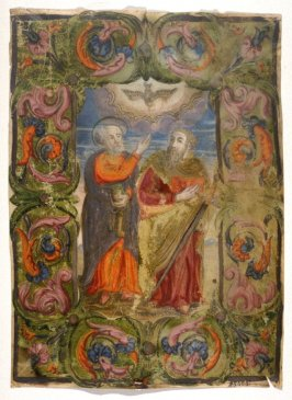Parchment - Miniature with St. Peter and Paul