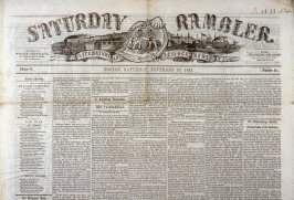 The Boston Saturday Rambler No.47, 20 November 1847