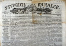 The Boston Saturday Rambler No.48, 27 November 1847