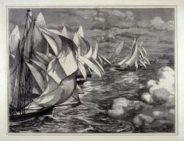 The Royal Albert Club Regatta- A Flying Start - from  Harper's Weekly (October 17, 1874), p. 860