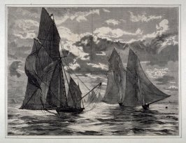 The Royal Albert Club Regatta- The Finish - from Harper's Weekly (October 17, 1874), p. 861